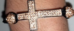 Cross bracelet (sideways cross)